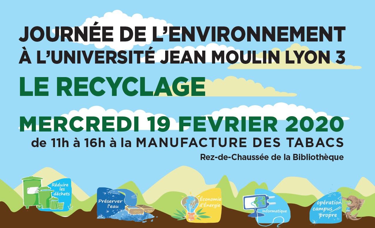 JOURNÉE DE L'ENVIRONNEMENT À L'UNIVERSITÉ JEAN MOULIN LYON 3 – 19 février