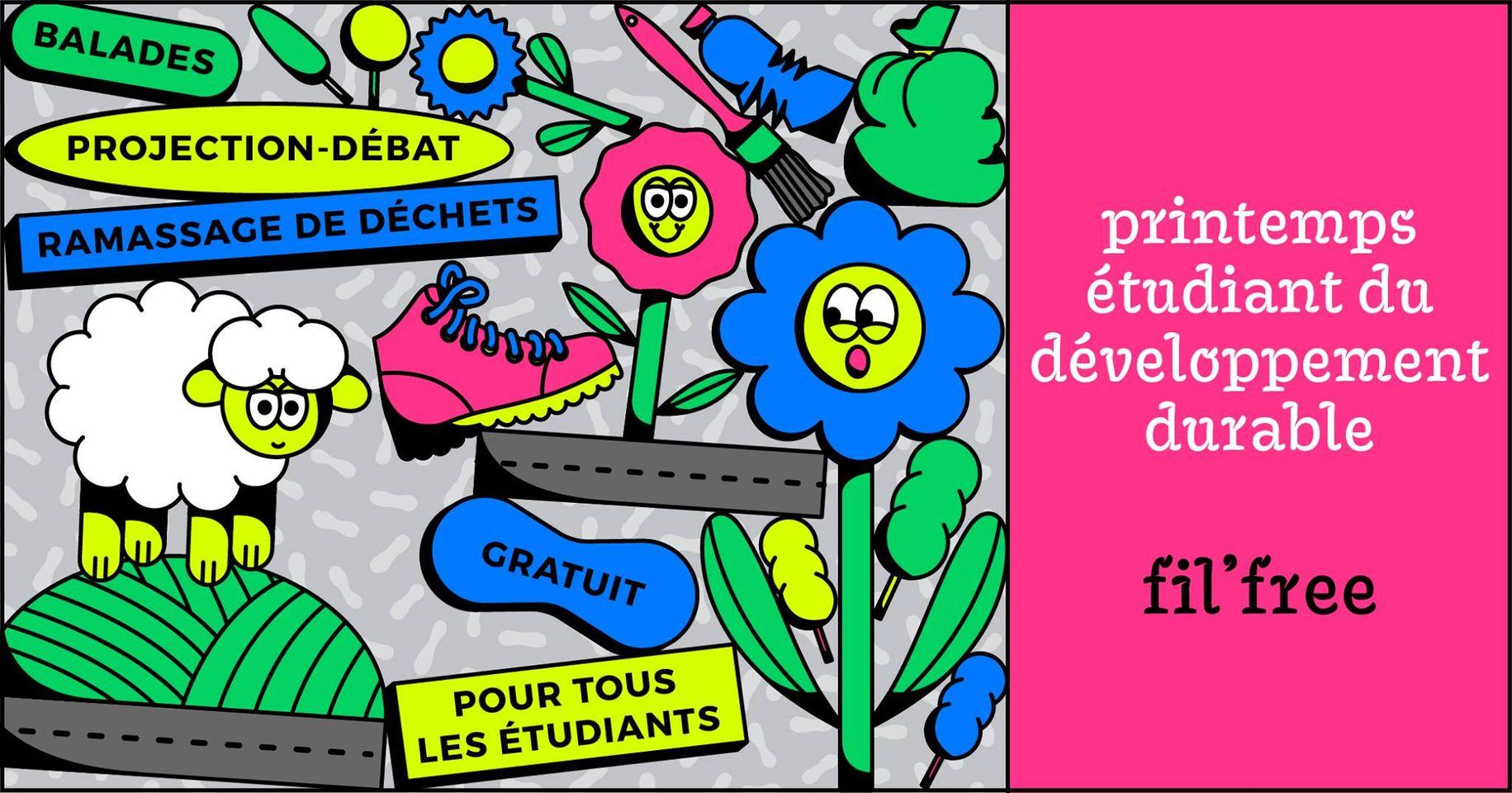 FIL'FREE : Printemps étudiant du développement durable (Lyon Saint-Etienne)